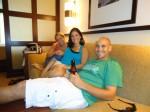 Allie, me, and Brad relaxing after getting to the hotel.
