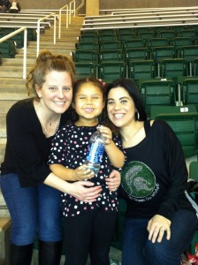 The girls at the game!